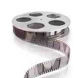 3d film reel copy. Isolated on white background Stock Photos