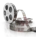 3d film reel copy. Isolated Royalty Free Stock Images