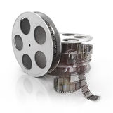 3d film reel copy. Isolated on white background Royalty Free Stock Photos