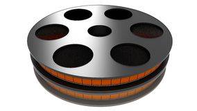 3D Film roll Royalty Free Stock Images