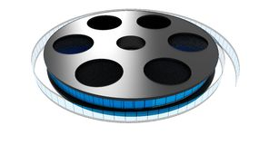 3D Film roll Stock Image
