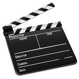 3d film slate. Isolated on a white background. Vector illustration Royalty Free Stock Photo