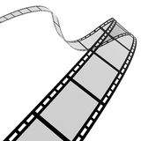 3d film spiral. High quality filmstrip 3D render. Great for cinema concept Royalty Free Stock Photos