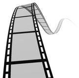 3d film spiral. High quality filmstrip 3D render. Great for cinema concept Stock Photography