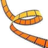 3D FILM SPIRAL. High quality filmstrip 3D render. Great for cinema concept Stock Photos