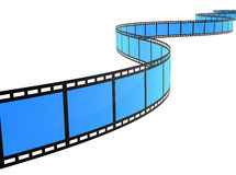 3D FILM SPIRAL Stock Photo