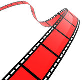 3D FILM SPIRAL. High quality filmstrip 3D render. Great for cinema concept Royalty Free Stock Photography