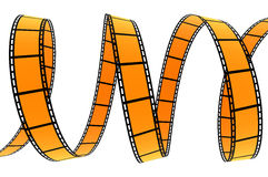 3D FILM SPIRAL. High quality filmstrip 3D render. Great for cinema concept Royalty Free Stock Photo