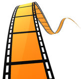 3D FILM SPIRAL. High quality filmstrip 3D render. Great for cinema concept Stock Photo