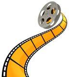 3D FILM SPIRAL. High quality filmstrip 3D render. Great for cinema concept Royalty Free Stock Image