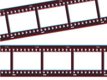3d Film Strip. Film strip with 3d effect Royalty Free Stock Photo