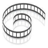 3d film strip. Illustration for the web Royalty Free Stock Image