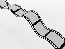 3D Film Strip. A 3D film strip used in movies and photography royalty free illustration
