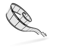 3D film strip cut Royalty Free Stock Images