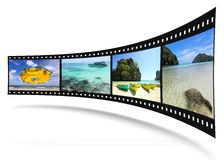 3D film strip with nice pictures Royalty Free Stock Photos