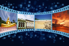 3D film strip with nice pictures Royalty Free Stock Photo