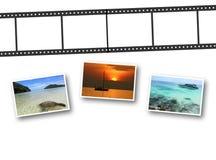 3D filmstrook en foto's Stock Foto's