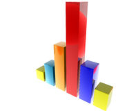 3D finance graph. 3D shiny finance graph illustration render Royalty Free Stock Photography