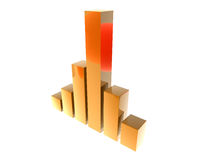 3D finance graph Royalty Free Stock Photo