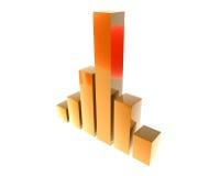 3D finance graph Royalty Free Stock Photo