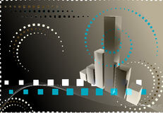 3D finance graph Stock Images