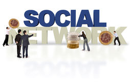 3D financial social network Royalty Free Stock Photography