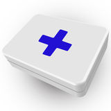 3d first aid box Royalty Free Stock Images