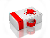 3D first aid kit Royalty Free Stock Photos