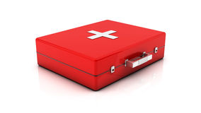3d First aid kit Stock Photos