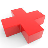 3D first aid medical sign. Royalty Free Stock Images