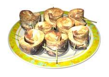 3D fish dish Stock Image