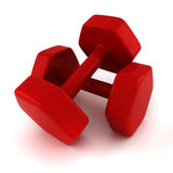 3d fitness weights Royalty Free Stock Images