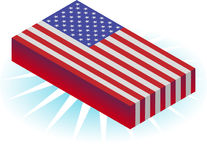 3D Flag Stock Photo