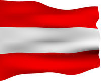 3D Flag of Austria Royalty Free Stock Photography