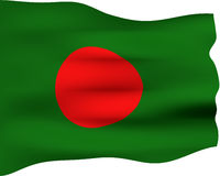 3D Flag of Bangladesh Stock Photos