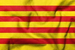 3D Flag of Catalonia Stock Image