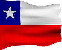3D Flag of Chile Stock Photos