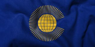 3D Flag of  Commonwealth of Nations Stock Photos