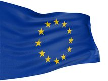3D flag of the European union Royalty Free Stock Photos