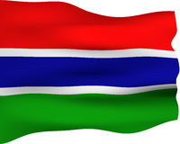 3D Flag of Gambia Royalty Free Stock Photo