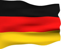 3D Flag of Germany Royalty Free Stock Image