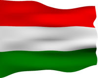 3D Flag of Hungary Royalty Free Stock Image