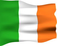 3D Flag of Ireland Royalty Free Stock Images