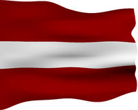 3D Flag of Latvia Stock Photos