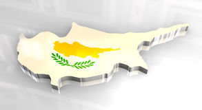 3d flag map of cyprus Stock Photos