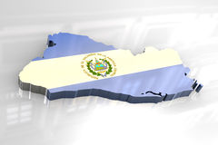 3d flag map of El Salvador Stock Photography