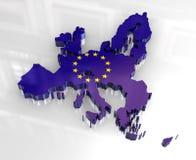 3d flag map of European union royalty free illustration
