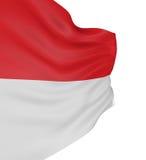 3D Flag of Monaco Stock Images