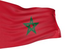 3D flag of Morocco Stock Photography