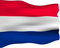 3D Flag of the Netherlands Stock Image